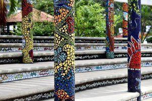 Arte con azulejos para darle color a Vallarta