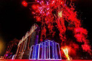 En Año Nuevo, Bahía de Banderas se iluminó de punta a punta