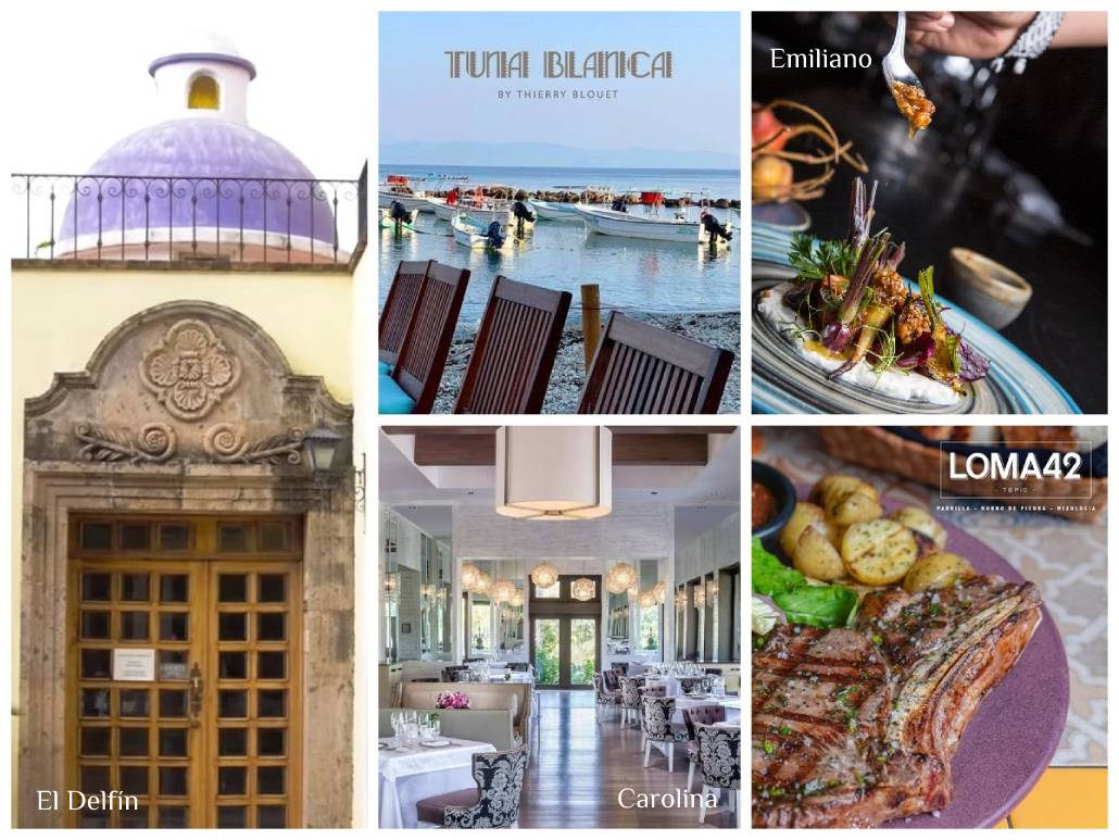 "5 Nayarit restaurants among ""The Great Restaurants of Mexico 2021"""